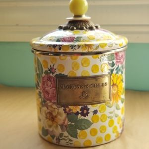 MACKENZIE-CHILDS small buttercup cannister